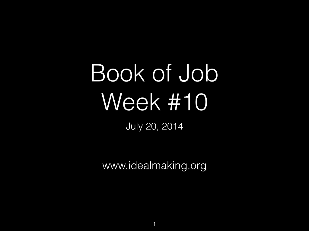 Book of Job, Raz, Week #10.001