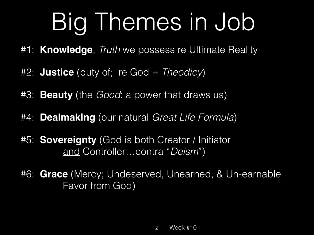 Book of Job, Raz, Week #10.002