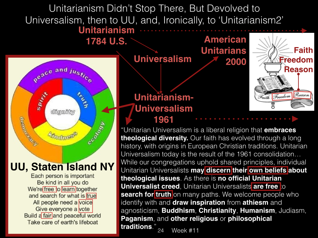 unitarianism universalism Beliefs and values unitarian universalism is a theologically diverse religion in which members support one another in our individual search for truth and meaning.