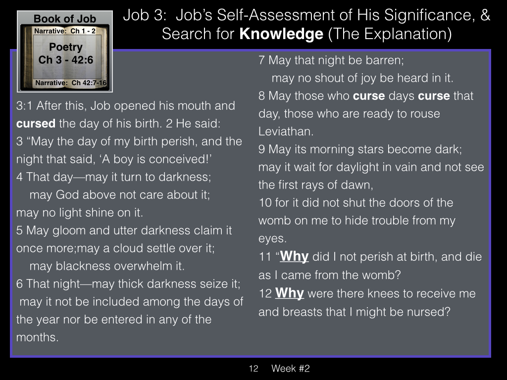 Book of Job, Week #2 LB.012