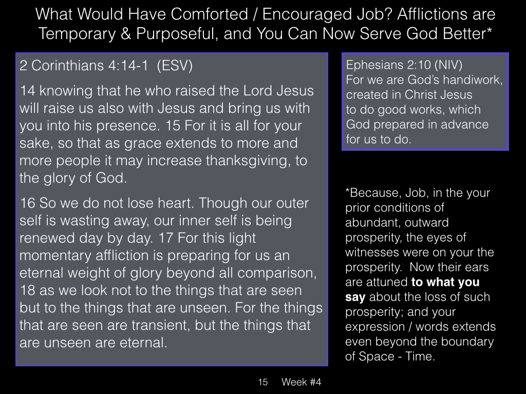 Book of Job, Week #4 LB.015