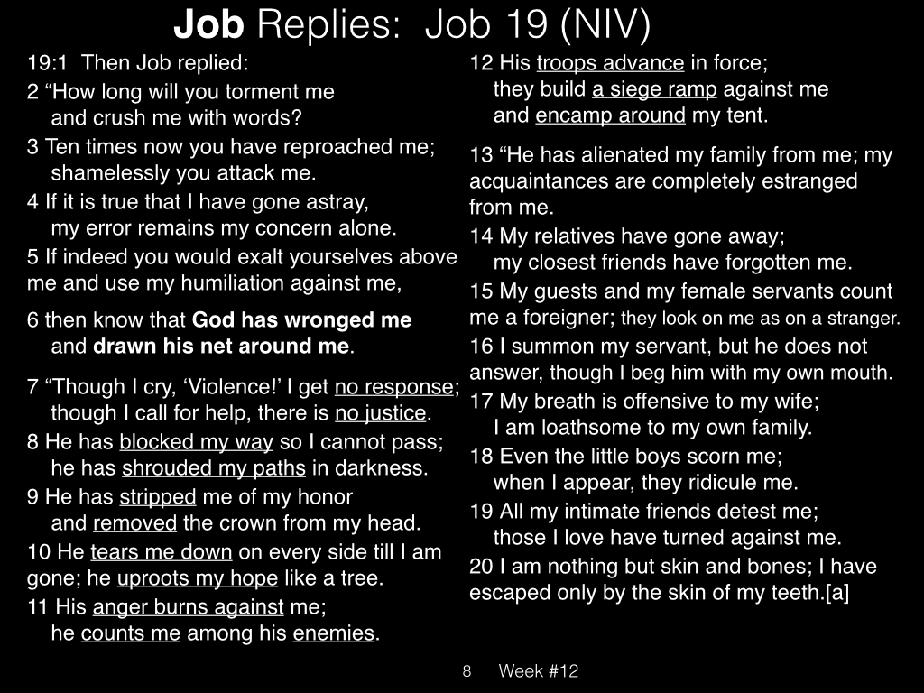 Book of Job, Raz, Week #12.008