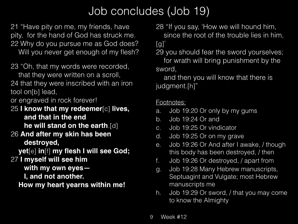 Book of Job, Raz, Week #12.009