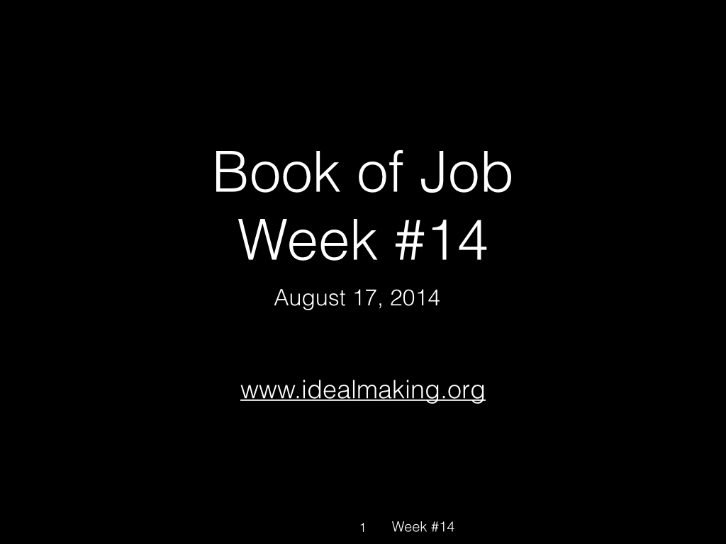 Book of Job, Raz, Week #14.001