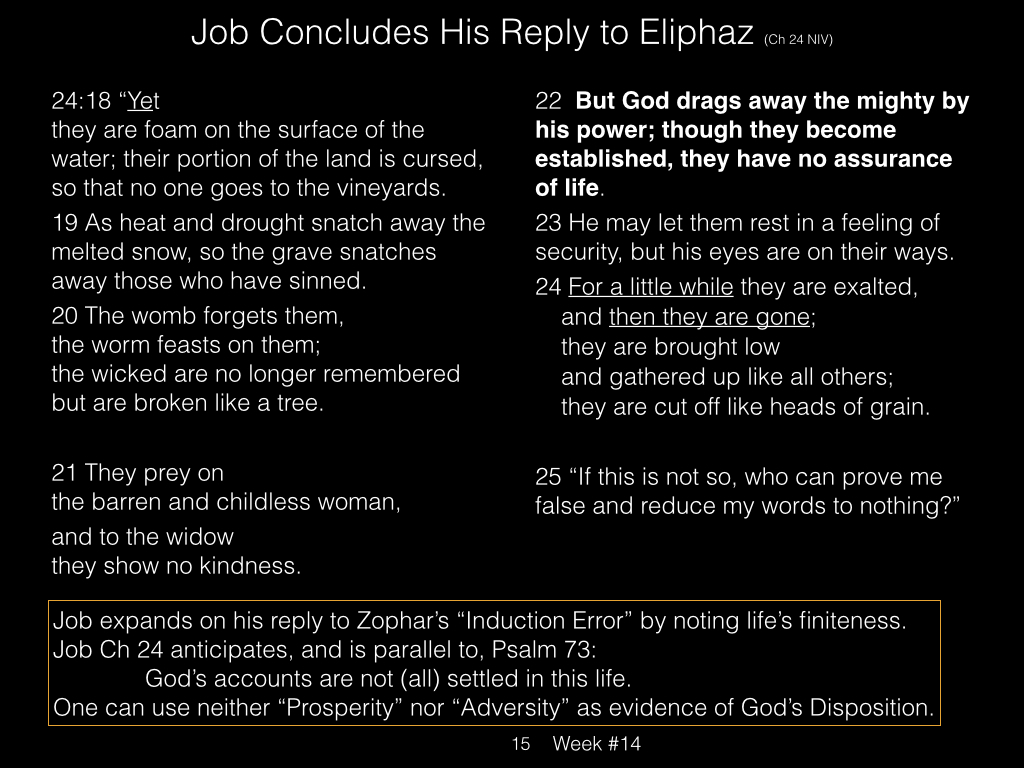 Book of Job, Raz, Week #14.015