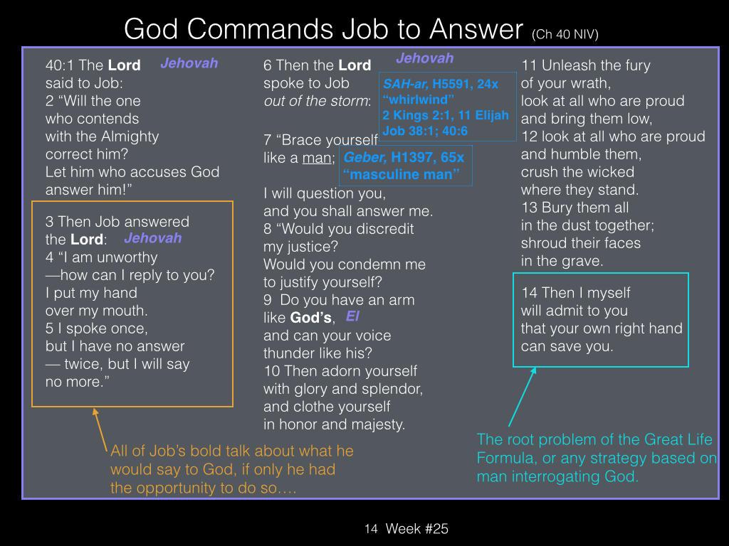Book of Job, Raz, Week #25.014