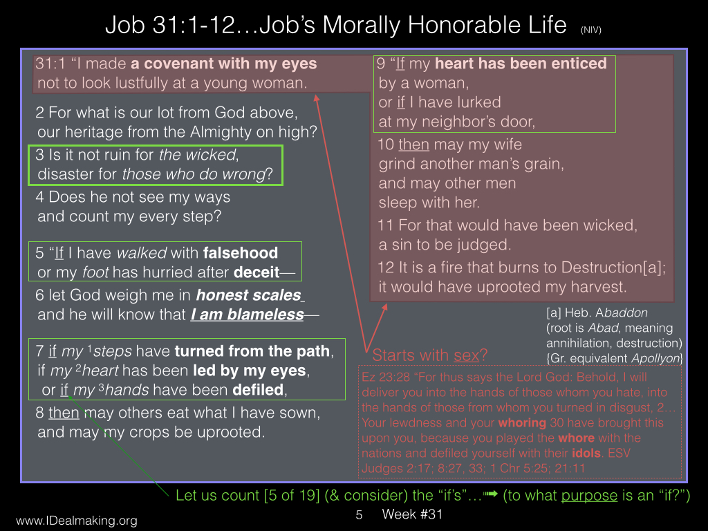 Book of Job, Week #31 LB.005