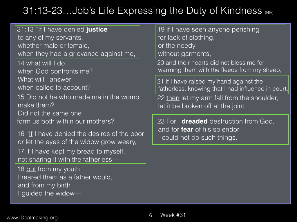 Book of Job, Week #31 LB.006