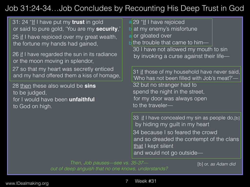 Book of Job, Week #31 LB.007