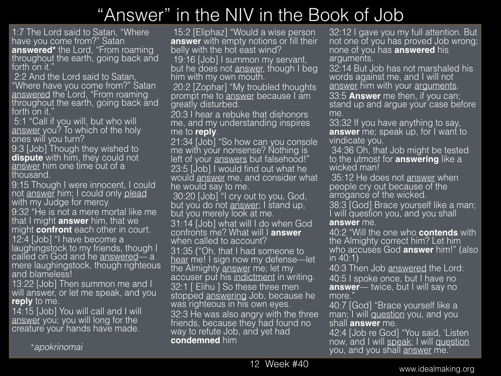 Book of Job, Week #40B.012